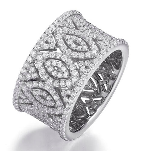 FILIGREE PAVE BAND RING