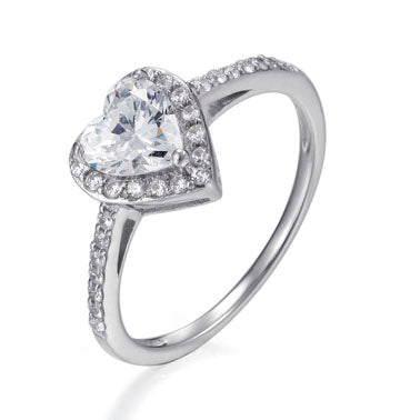MIA HEART HALO RING
