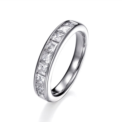 CHANNEL SET HALF ETERNITY RING