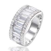 Load image into Gallery viewer, BAGUETTE CUT HALF ETERNITY RING