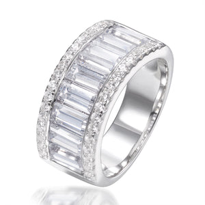 BAGUETTE CUT HALF ETERNITY RING