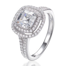 Load image into Gallery viewer, DOUBLE HALO ASSCHER CUT RING