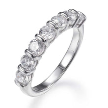 Load image into Gallery viewer, BRILLIANT CUT HALF ETERNITY RING
