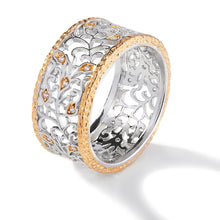 Load image into Gallery viewer, FANCY TWO TONE FILIGREE RING