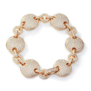 PAVE SET DISC BRACELET
