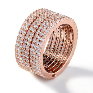 ATHENA SEVEN ROW ETERNITY RING