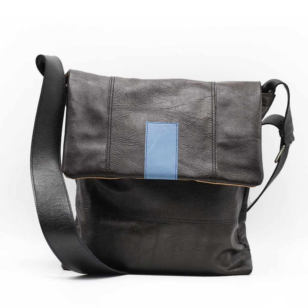 Ashpahlt Blue Large Shoulderbag