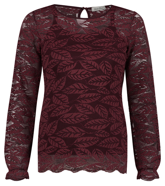 Ventebluse  Lace Is Bordeaux - MAMALUX