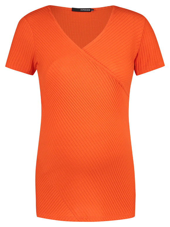 Vente - og amme t-shirt Orange - MAMALUX