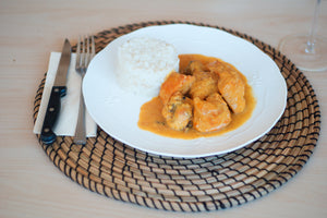 Pepitoria Chicken with Basmati Rice