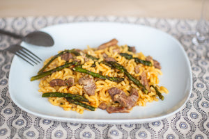 Fideuá with Fillet and Asparagus*