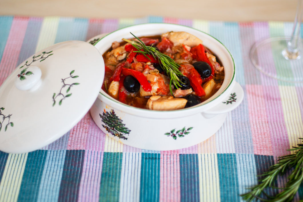 Rosemary Chicken with Black Olives and Capers