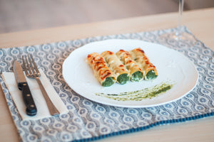 Spinach, Ricotta and Pine Nut Cannelloni
