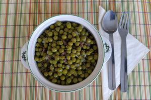 Green peas with Iberian ham (French style)