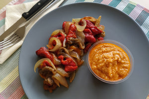 Escalivada with romesco sauce (v)