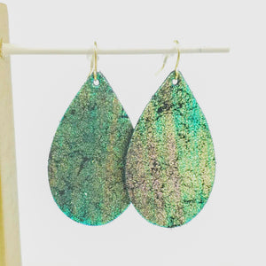MERMAID SCALE GREEN LEATHER