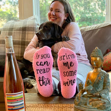 Load image into Gallery viewer, WINE FUZZY SOCKS