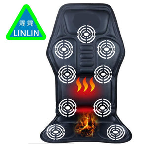 Health Care Linlin Car Home Office Full-body Back Neck Lumbar Electric Massage Chair Relaxation Pad Seat Heat Vibrating Mattress Therapy Bed Massage & Relaxation