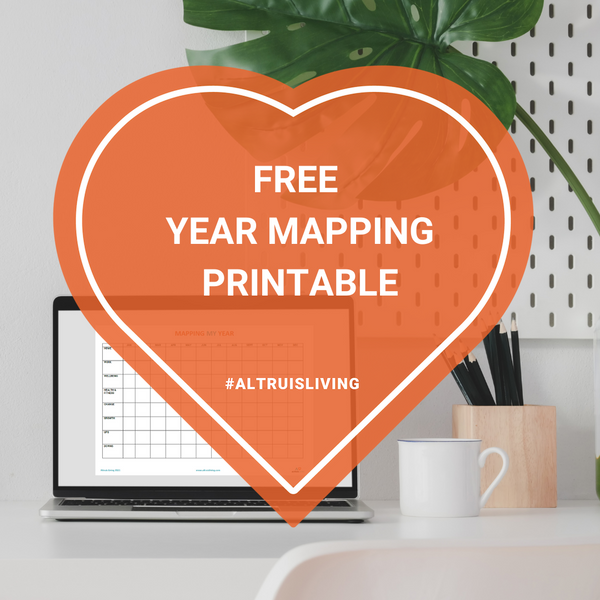 Annual Year Mapping & Reflection Printable