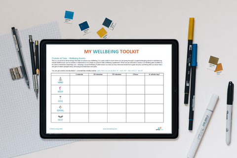 Free Printable Pockets of Time Wellbeing Boosts