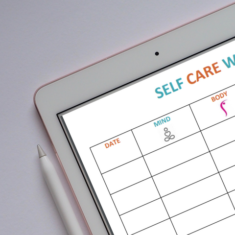 Download your free self care weekly tracker printable