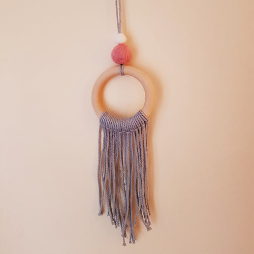 Felt Ball Macramé Dream Catcher Aromatherapy Diffuser Pink & White - Home & Car Diffuser / Freshner - Rituals Home