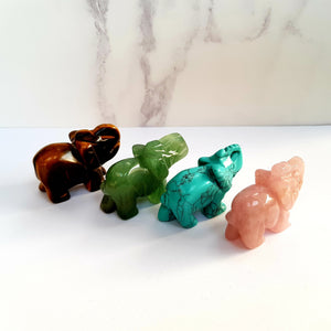 Aceso Jade Gemstone Elephant - Crystals and Gemstones - Altruis Living