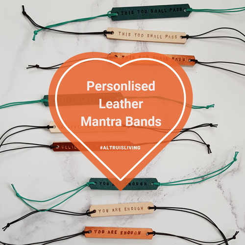 Personalised Leather Mantra Band - Mantra Jewellery - Altruis Living