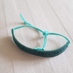 Leather Mantra Band / Diffuser Bracelet - You Are Enough (Turquoise) - Mantra Jewellery - Altruis Living