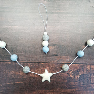 Scandi Felt Ball Garland Aromatherapy Diffuser Choice of Colours - Home & Car Diffuser / Freshner - Altruis Living