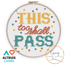 Load image into Gallery viewer, This Too Shall Pass Mindful Cross Stitch Kit - Cross Stitch - Altruis Living