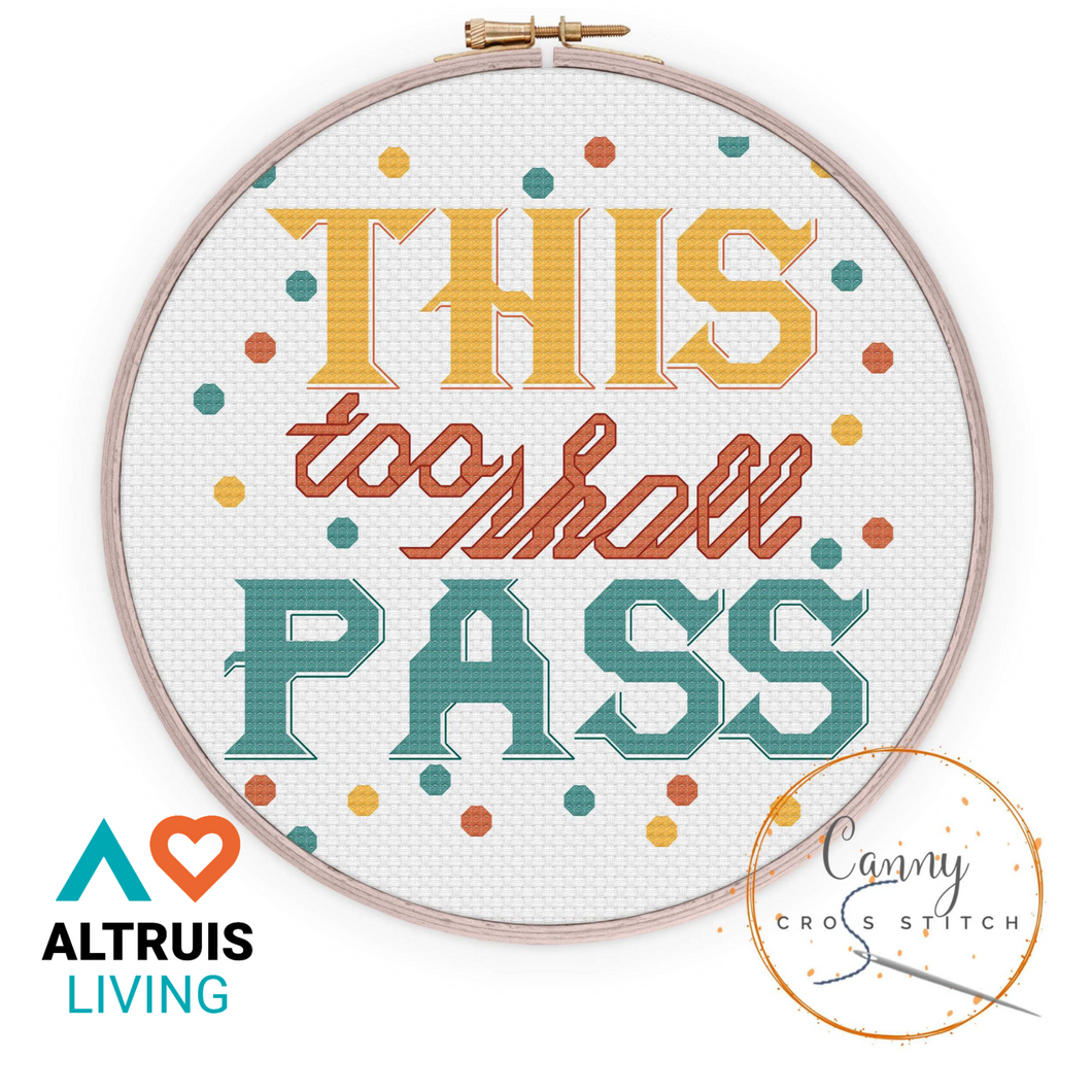 This Too Shall Pass Mindful Cross Stitch Kit - Cross Stitch - Altruis Living