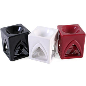 Temple Ceramic Oil Burner (Plum Red) - Oil Burner - Altruis Living
