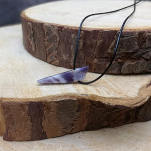 SOOTHE & REBALANCE Shard Necklace Amethyst - Gemstone Shard Necklaces - Altruis Living