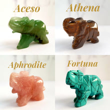 Load image into Gallery viewer, Athena Tiger's Eye Gemstone Elephant - Crystals and Gemstones - Altruis Living