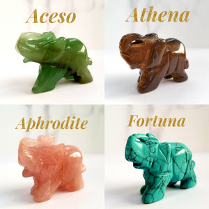 Athena Tiger's Eye Gemstone Elephant - Crystals and Gemstones - Altruis Living