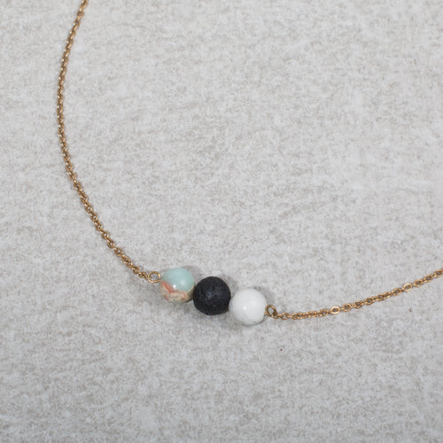 COMFORT Essential Oil Diffuser Necklace Howlite & Jasper - Diffuser Necklaces - Altruis Living