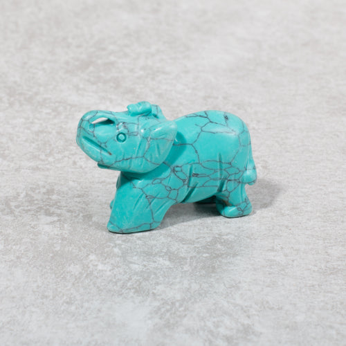 Fortuna Turquoise Gemstone Elephant - Crystals and Gemstones - Rituals Home