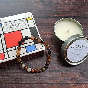 Man Cave Ritual Gift Set Hobo Soy Travel Candle, Matches & Diffuser Bracelet - Gift Set - Rituals Home