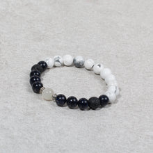 Load image into Gallery viewer, HARMONY Perimenopause / Menopause Womens Essential Oil Diffuser Bracelet Howlite, Blue Goldstone & Moonstone