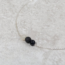 Load image into Gallery viewer, HARMONY Perimenopause / Menopause Womens Diffuser Necklace Howlite, Blue Goldstone & Moonstone - Diffuser Necklaces - Rituals Home