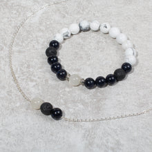 Load image into Gallery viewer, HARMONY Perimenopause / Menopause Womens Essential Oil Diffuser Bracelet Howlite, Blue Goldstone & Moonstone - Diffuser Bracelets - Altruis Living