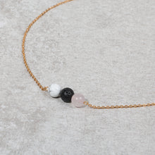 Load image into Gallery viewer, HEART & SOUL Diffuser Necklace Howlite & Rose Quartz - Diffuser Necklaces - Altruis Living