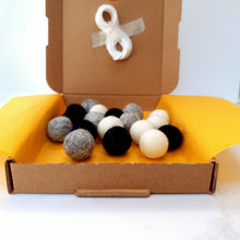Load image into Gallery viewer, Monochrome DIY Felt Ball Garland Kit - Craft Kit - Altruis Living