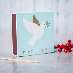 Luxury Long Matches in designer box Dove design (Christmas Collection)