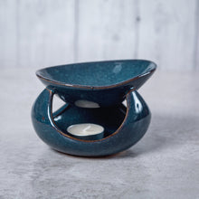 Load image into Gallery viewer, Abstract Deep Bowl Ceramic Oil Burner (Blue) - Oil Burner - Altruis Living