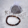STRENGTH Mens Diffuser Bracelet Brown Agate, Tiger's Eye & Black Onyx