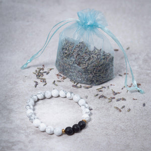 SERENITY Womens Essential Oil Diffuser Bracelet Howlite - Diffuser Bracelets - Altruis Living