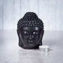 Load image into Gallery viewer, Buddha Head Ceramic Oil Burner (Black) - Oil Burner - Rituals Home