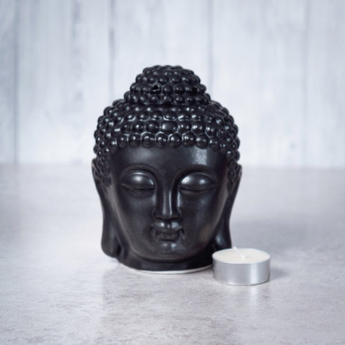 Buddha Head Ceramic Oil Burner (Black) - Oil Burner - Rituals Home